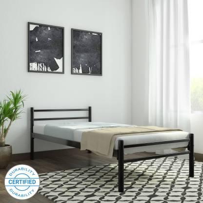 FurnitureKraft Palermo Metal Single Bed