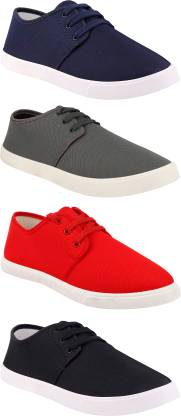 Chevit Combo Pack of 4 Casual Sneakers With Sneakers For Men