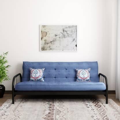 FurnitureKraft Beirut Single Metal Futon