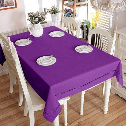 Lushomes Solid 6 Seater Table Cover