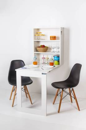 Invisible Bed Wall mounted foldable Solid Wood 2 Seater Dining Table