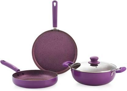 NIRLON Regal_ Purple_Gift_Set Induction Bottom Cookware Set