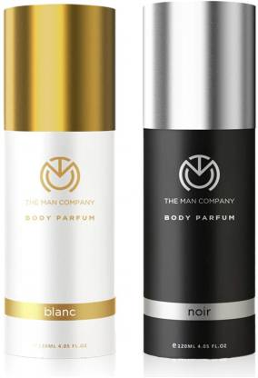 THE MAN COMPANY Blanc & Noir Combo Long Lasting Deodorant Spray - Pack of 2 Perfume  -  240 ml