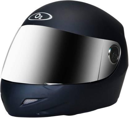 O2 PRO Full Face Helmet with Scratch Resistant Mercury Visor, Cross Ventilation Motorbike Helmet