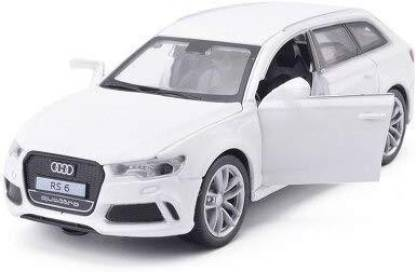 HIM TAX Diecast Alloy Metal Luxury SUV Car Model For Audi RS6 Quattro Collection Model Pull Back Toys Car Sound & Light