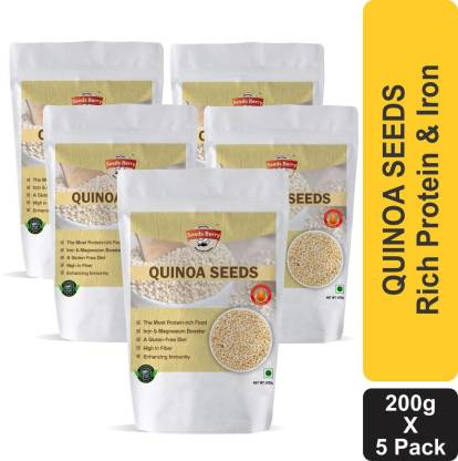 Seeds Berry White Quinoa Seeds for Weight Loss - Calcium & Fiber Rich Quinoa with Iron Booster Superfood Quinoa