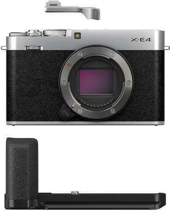 FUJIFILM X-Series X-E4 Mirrorless Camera Body with Accessories - Metal Hand Grip (MHG-XE4) and Thumb Rest (TR-XE4)