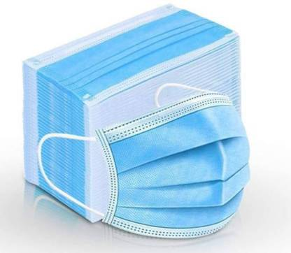 VeBNoR 100 Pieces 3 Ply Pharmaceutical 3 layered / 3 ply Surgical Face mask 100% certified anti pollution - anti viral Mask with Nose-pin and soft Ear-loops Mask Disposable Surgical Mask (Blue, Free Size, Pack of 100, 3 Ply) and Melt blown material Surgical Mask 3 Ply Surgical Mask (100 Piece) Surgical Mask