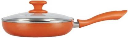 Prestige Ceramic Coated with Glass Lid Fry Pan 24 cm diameter with Lid 1 L capacity