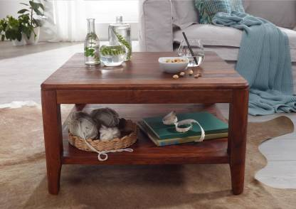 the brown wynk Solid Wood Coffee Table