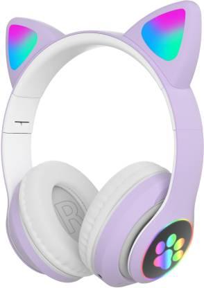 Wk Life 5.0 Kids Cat Foldable Headphones Bluetooth Headset