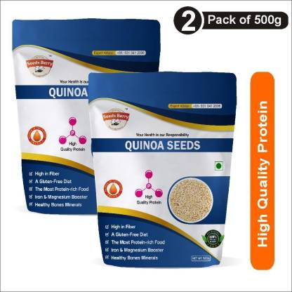 Seeds Berry White Quinoa for Weight Loss - Calcium & Fiber Rich Quinoa with Iron Booster Superfood