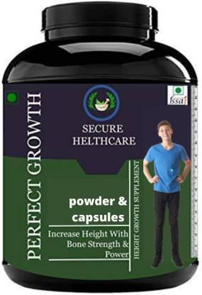 Secure Healthcare Perfect Growth Height Increase Medicine Capsules Pack Of 1 Weight Gainers/Mass Gainers