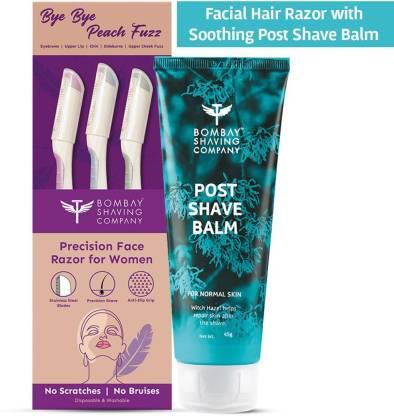 BOMBAY SHAVING COMPANY Face Shaving Set with Precision Face Razor & Moisturiser (Set of 2) | For Easy & Safe Facial Hair Removal