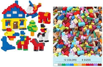 Viradiya's Multi Colored Colorful DIY Mini Building Blocks Educational Puzzle Construction Toy for Kids