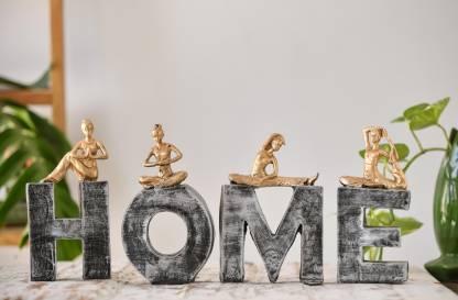 Flipkart Perfect Homes Decorative Showpiece - 20 cm(Polyresin, Silver, Gold)
