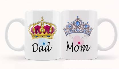 iMPACTGift Dad & Mom Couple Gift for Mummy Papa, Anniversary, Birthday Gifts Ceramic Coffee Mug