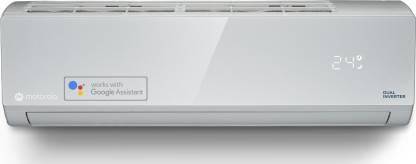 MOTOROLA 1.5 Ton 5 Star Split Dual Inverter Smart AC with Wi-fi Connect  - Silver