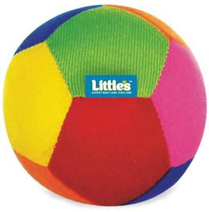 Little's Light Weight Stuffed Plush Soft Baby Play ball with Rattle Sound for Kids Rattle