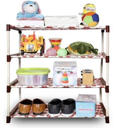 Flipkart Perfect Homes Studio 4-Shelf Plastic Collapsible PP Collapsible Wardrobe