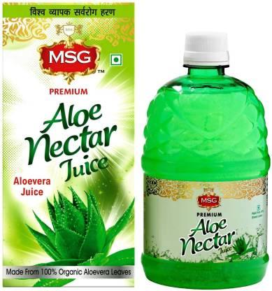 MSG Aloevera Juice (Made From 100% Organic Aloe Vera Leaves)