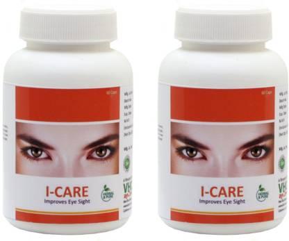 VHCA Ayurvedic Eyes Capsules (2 x 60 capsules) - I-Care Capsules.