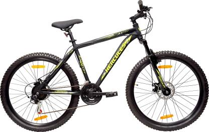 HERCULES TOPGEAR S27 R2 with Microshift Gear 27.5 T Mountain/Hardtail Cycle(21 Gear, Black)