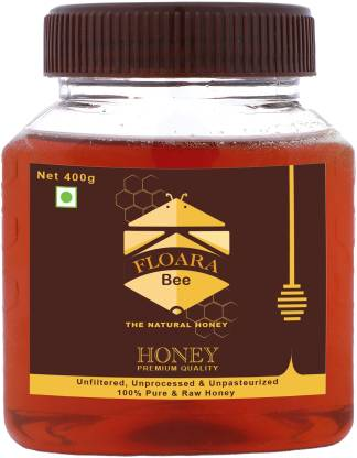 Floara bee Natural Honey - Unfiltered & Unprocessed (400 G)