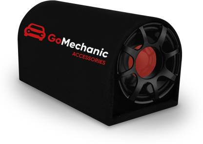 """GoMechanic Rumble R1 8"""" Inch Active Basstube with 1 Year Warranty & in-Built Amplifier 3000W High O/P for Crystal Clean Low Frequency Bass Response for All Vehicles (Sub-woofer with D Shape Enclosure) Subwoofer Subwoofer"""