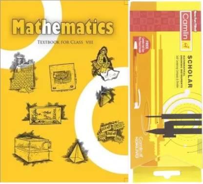 NCERT Mathematics Class 8 With Camlin Scholar Geometry Box  (Paperback, NCERT)