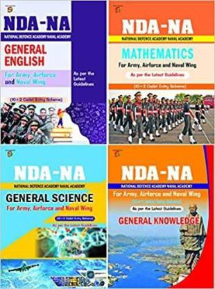 NDA-NA (National Defence Academy & Naval Academy) For Army, Air Force & Naval Wing (10 + 2 Cadet Entry Scheme) Books : UPSC NDA (4 Books Sets  (Pepar Back, Sharda Experts)