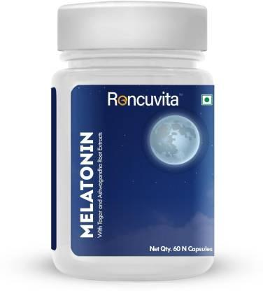 RONCUVITA Melatonin 3mg Sleep Supplement, Promotes Relaxation and Sleep Health