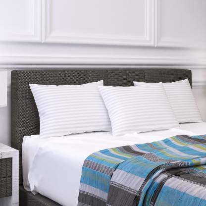 LA VERNE Microfibre Stripes Sleeping Pillow Pack of 3