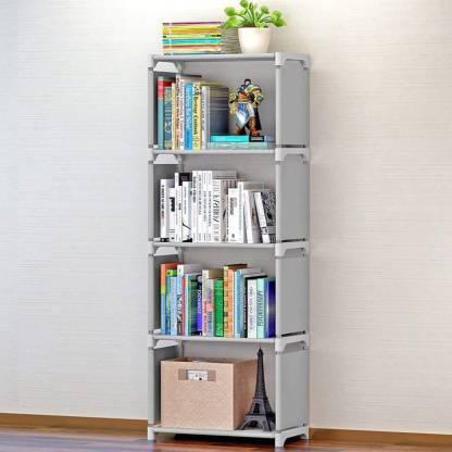 ELTOP Book Shelves Metal Open Book Shelf