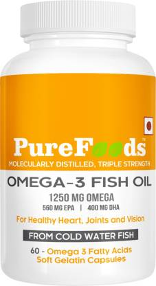 PureFoods OMEGA-3 Fish Oil Capsules