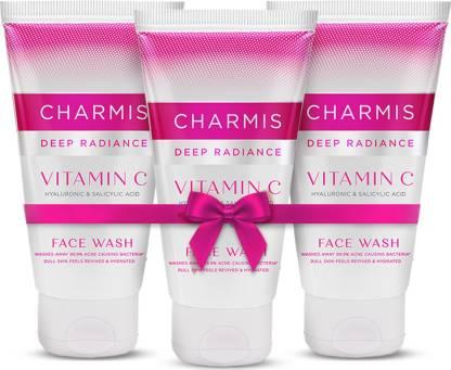 Charmis Deep Radiance with Vitamin C, Hyaluronic Acid and Salicylic Acid Face Wash