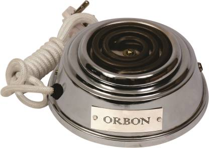 Orbon Baby 700 Watts Electric Coil Cooking Stove | Hookah Coal Burner | Electric Cooking Heater | Induction Cooktop | Coil Hot Plate Cooking Stove | Compact Stove | Works With All Cookwares (Silver) Radiant Cooktop