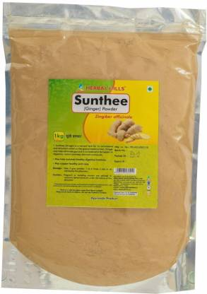 Herbal Hills Sunthee (Ginger) powder - 1 kg pack Natural and Pure - Natural Dry Saunth powder (Zingiber officinale) - Stomach problems