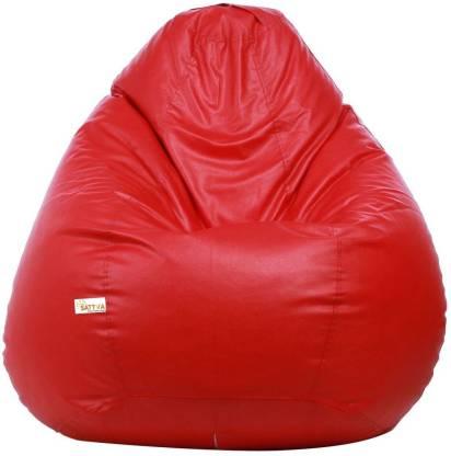 Sattva XXXL Tear Drop Bean Bag Cover  (Without Beans)