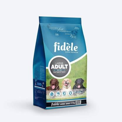 FIDELE Fidele Dry Dog Food, Adult Large Breed, 4-kg Chicken 4 kg Dry Adult, Senior Dog Food