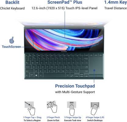 ASUS ZenBook Duo 14 (2021) Core i5 11th Gen - (8 GB/512 GB SSD/Windows 10 Home) UX482EA-KA501TS Thin and Light Laptop