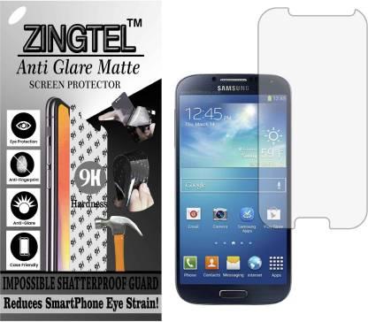 ZINGTEL Tempered Glass Guard for SAMSUNG GALAXY S4 (I9500) (Matte Flexible Shatterproof)