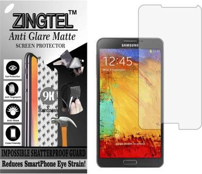ZINGTEL Tempered Glass Guard for SAMSUNG GALAXY NOTE 3 N9000 (Matte Flexible Shatterproof)