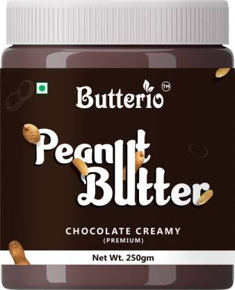 Butterio chocolate creamy peanut butter 250gm 250 g