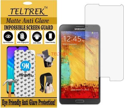 TELTREK Tempered Glass Guard for SAMSUNG GALAXY NOTE 3 N9000 (Matte Flexible Shatterproof)