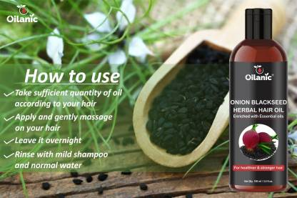 Oilanic Premium Onion Blackseed Herbal Hair Oil - For Hair Growth (100 ml) Hair Oil