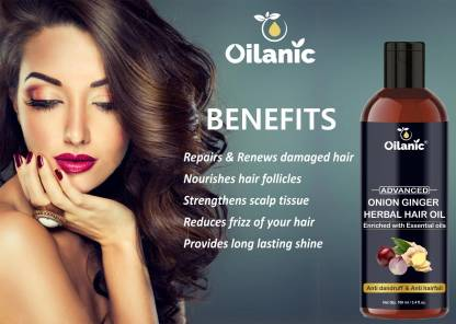 Oilanic Advance Onion Ginger Herbal Hair Oil - For Hair Growth (100 ml) Hair Oil