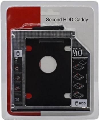 "Lappyman Laptop 2.5 inch Internal Hard Drive Enclosure/HDD Caddy , 9.5mm Universal 2nd Hard Drive Bay Caddy For CD/DVD-ROM (For Serial ATA/Universal 2.5"" HDD/SSD, Black) Internal Hard Drive Enclosure/HDD Caddy Internal Optical Drive"