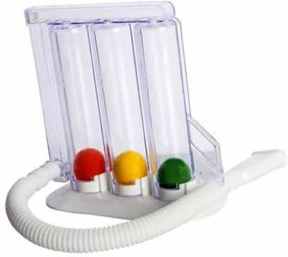 Doctist Respirometer Breathing Lung Exerciser Device and Respiratory Exerciser-3 Balls Incentive Spirometer (White) Spirometer Respiratory Exerciser