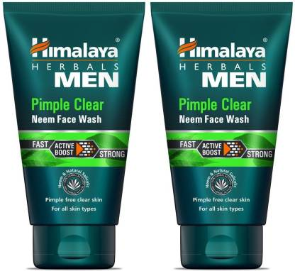 HIMALAYA Men Pimple Clear Neem , 50ml (Pack Of 2) Face Wash